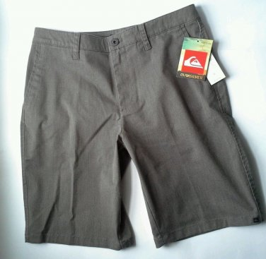 Quiksilver Shorts Mens Size 32 Brown Gray Casual Skate Board Shorts 104219 New