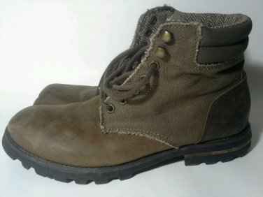 Rocket Dog Boots Shoes Mens Size 10 M Brown Hiking Trail Ankle Leather Rocketdog