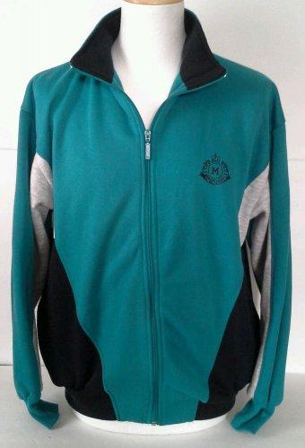 Mac Gregor Track Jacket Sweatshirt Size L Men's Full Zip Vintage Teal Black 90s