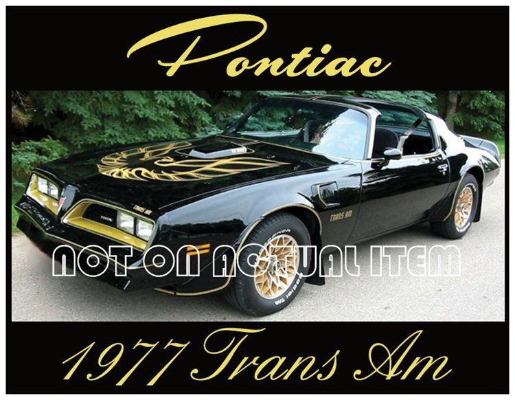 1977 Special Edition Bandit Trans Am T-Top Magnetic Postcard