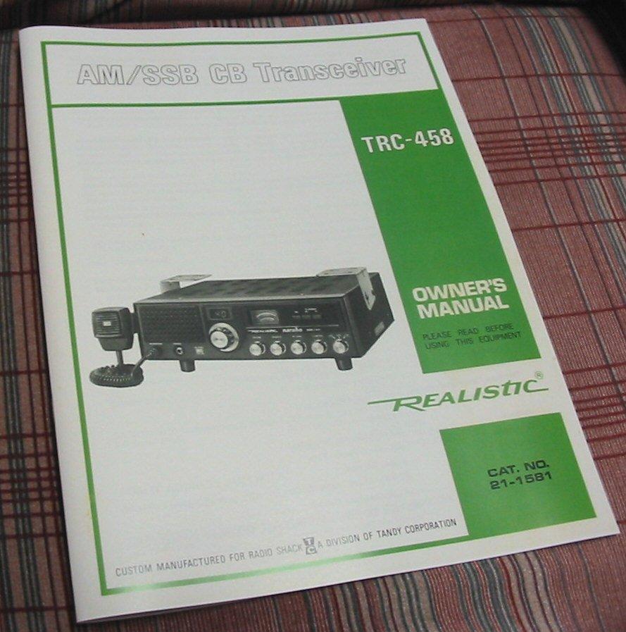 realistic trc ssb cb radio owners manual w