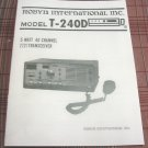 "Robyn T-240D ""Yellowbird"" CB Radio Owners Manual"