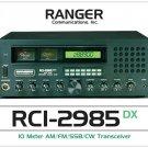 """RCI-2985DX 10 Meter Amateur Radio Poster 18"""" x 24"""" white"""
