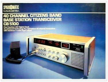 2 Sparkomatic CB-5100 Vintage CB Radio Poster 18