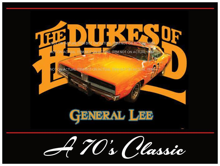 """18 x 24"""" Dukes of Hazzard 1969 Dodge Charger General Lee Poster"""