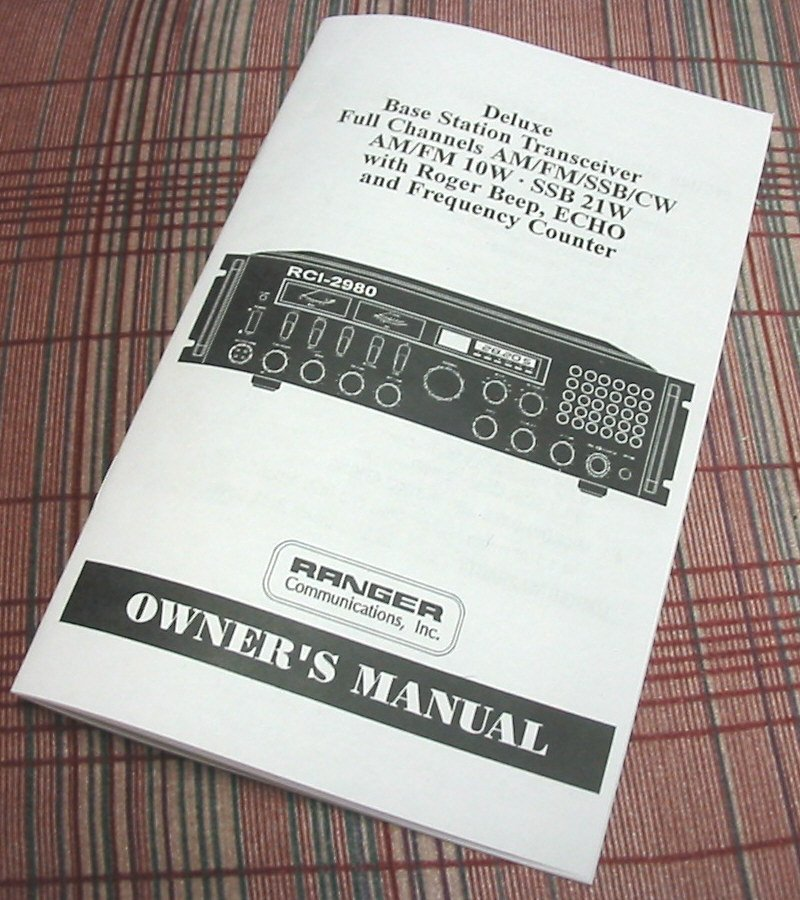 Ranger RCI-2980 CB Base Radio Owners Manual