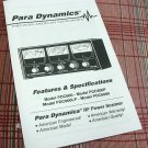 PDC 600, 600P, 600LP, 6000 CB Test Meter Operators Instruction Booklet