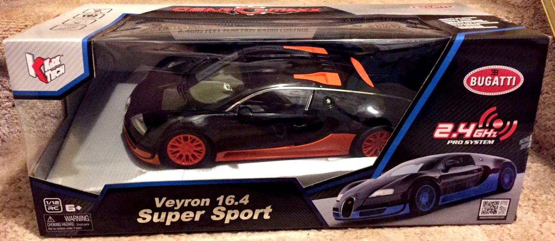 BUGATTI VEYRON 16.4 SUPER SPORT 1:12 Scale Radio Controlled NEW! Gear Maxx - RARE