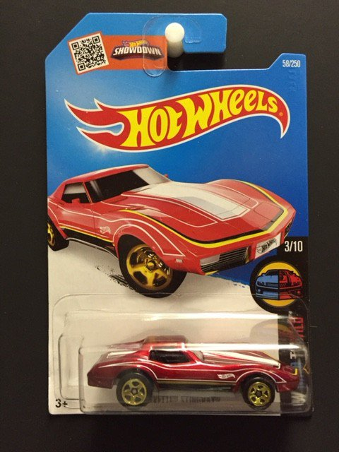 Hot Wheels Chevrolet 1976 Corvette - RED
