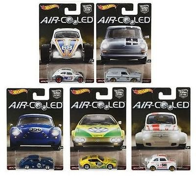 2017 Hot Wheels Car Culture AIR COOLED Set of all 5 Cars VW Beetle Fiat Porsche
