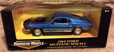 ERTL 1969 Ford Mustang Mach 1 American Muscle 1:18 Diecast  New