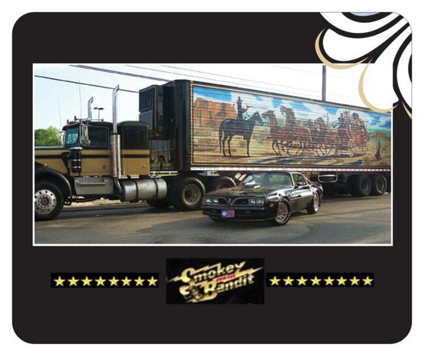 Smokey and the Bandit '77 Trans Am & Snowman's Kenworth Mouse Pad