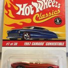 Hot Wheels Classics 1967 Camaro Convertible #7 * ORANGE * Series 2