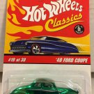 Hot Wheels Classics 40 Ford Coupe #19 * Green * Series 2