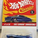Hot Wheels Classics 1967 Camaro Convertible #7 * BLUE *