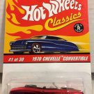 Hot Wheels Classics 1970 Chevelle Convertible #1 * RED *