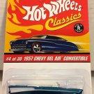 Hot Wheels Classics 1957 Bel Air Convertible #4 * Ice BLUE *