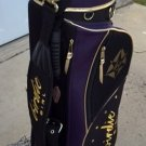 "Classy ""Birdie Girl"" Deluxe Carry Golf Bag Black/Gold/Purple"