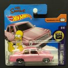 Hot Wheels The Simpsons Pink Car - SHORT CARD- HW Screen Time