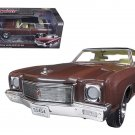 Auto World 1971 Chevy Monte Carlo SS 454 Rosewood Metallic Limited Edition to 1002pcs 1/18