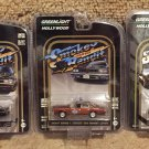 Smokey and the Bandit 1 & 2 Trans Ams + Bufford T Justice's Pontiac Lemans Chase Car Set 1/64