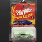 Hot Wheels Classics Series 1 1968 Dodge Dart GREEN w/protective case