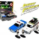 Johnny Lightning Ghostbusters ECTO 1A & Dodge plus Figurines