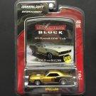 "Greenlight Entertainment ""Mecum Auction Block"" 1971 Plymouth Hemi Cuda - GOLD/BLACK"