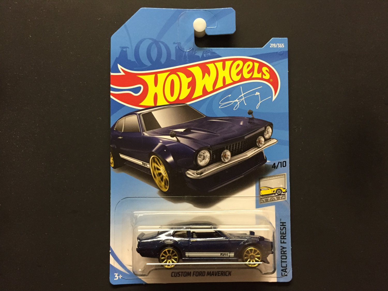 2018 Hot Wheels Custom Ford Maverick (Navy blue) - Factory Fresh 4/10