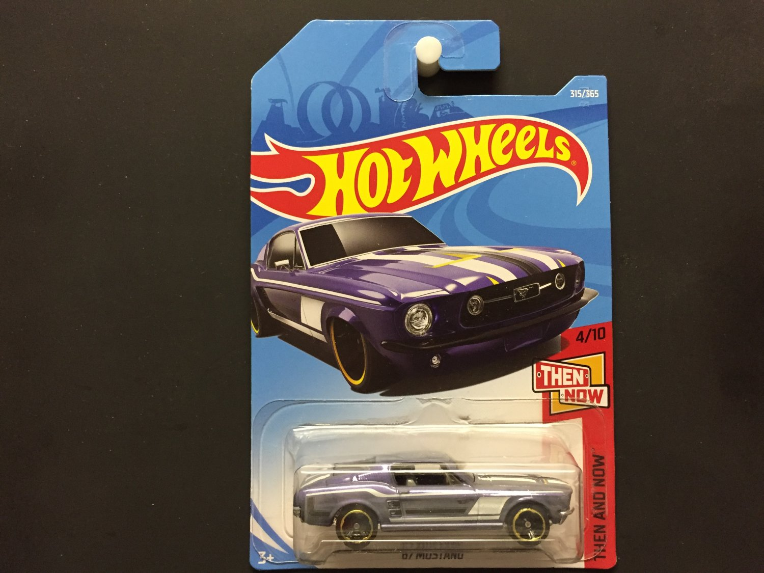 2018 Hot Wheels '67 Mustang (Blue) Then And Now 4/10