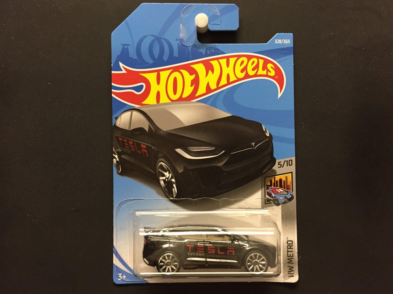 2018 Hot Wheels Tesla Model X (Black) - HW Metro 5/10