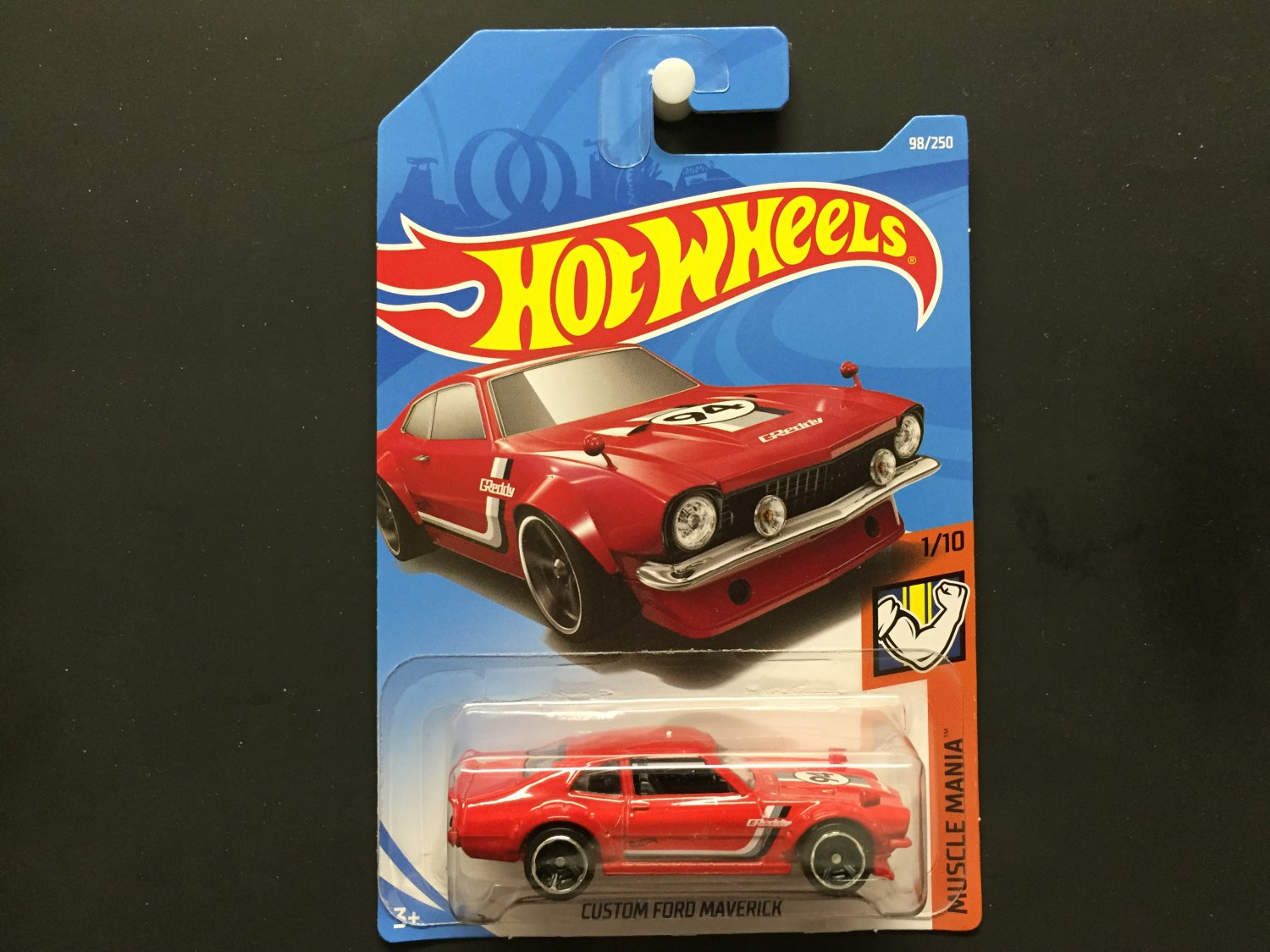 2019 Hot Wheels Custom Ford Maverick (Red) - Muscle Mania 1/10