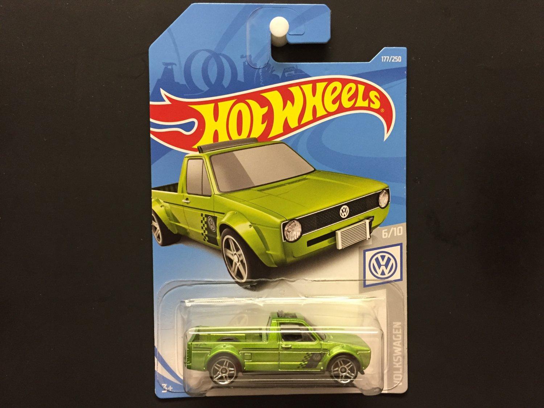 2019 Hot Wheels Volkswagen Caddy (Green) Volkswagen 6/10
