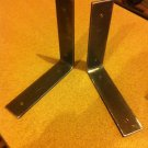 1 pair of Raw industrial iron shelf brackets supports