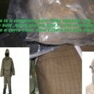 Nuclear fallout suit boots gloves Mask fits size L  Nuclear Biological Chemical