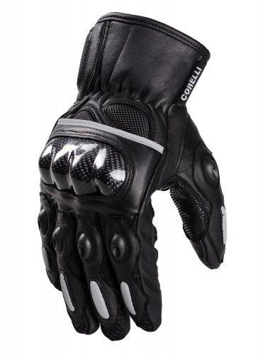 Leather Moto Gloves - Raven
