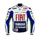 Rossi Yamaha Team Racing Motorcycle Leather Jacket