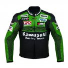 Kawasaki Racing Team Motorcycle Leather Jacket