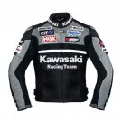 Kawasaki Gray Racing Team Leather Jacket (without a hump)