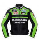 Kawasaki Green Racing Team Leather Jacket (without a hump)