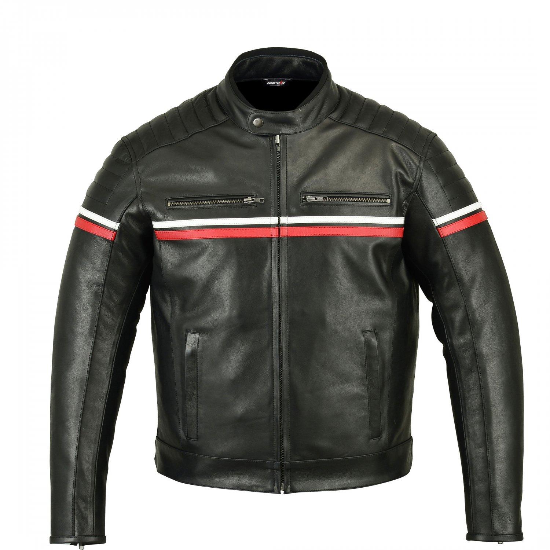 Metropolis Black Motorcycle Leather Jacket