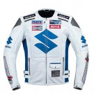 Suzuki White Racing Motorcycle Leather Jacket