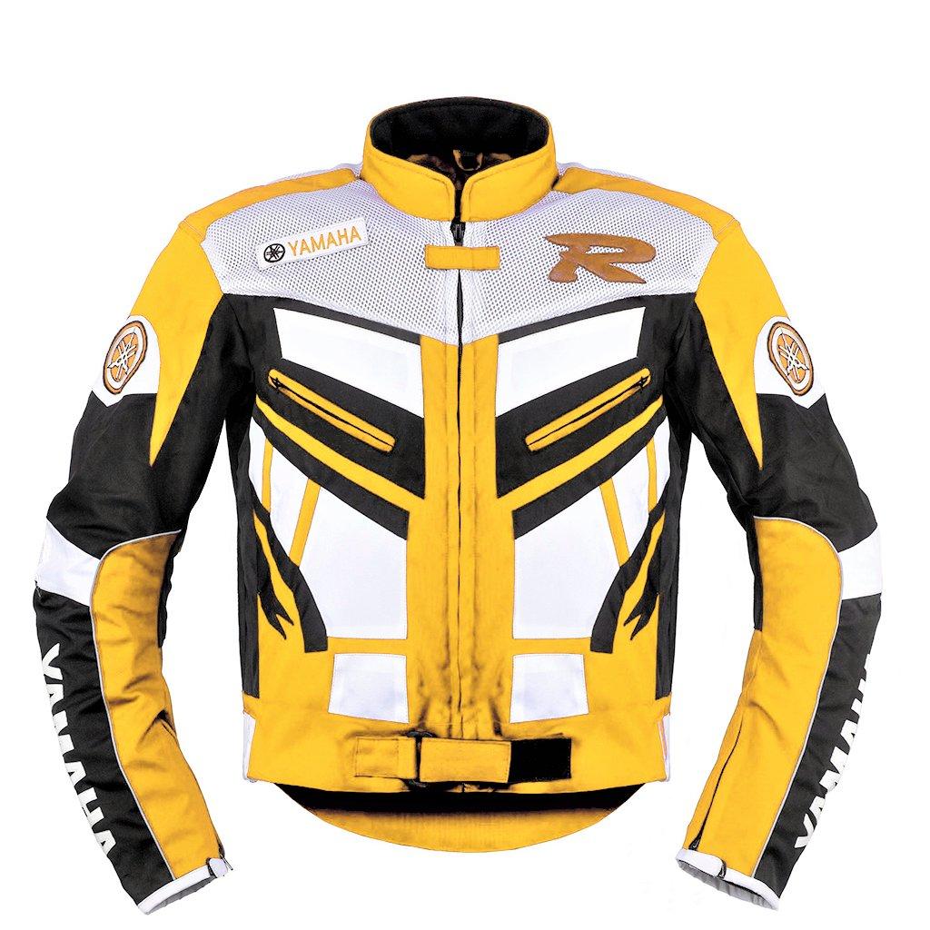 Yamaha Yellow Racing Motorcycle Textile Jacket