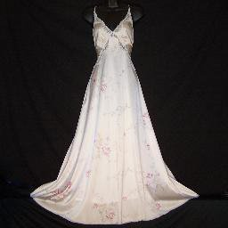 "Vintage Lingerie Miss Elaine Floral Nightgown Negligee 56"" Length ~"