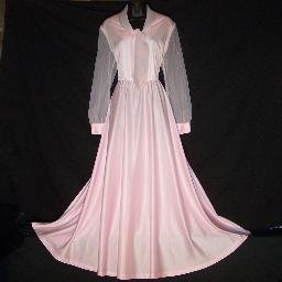 Vintage Dress Femme of Dallas Size 16 1/2 Pink Tall Bridal Mother of the Bride