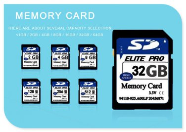 4gb SD Card for Camera Class 10 SDXC memory card SDHC