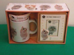 Picture Purrr-fect Mug Cup & Photo Frame Sherwood Cat  plus 2nd Mug Included NIB