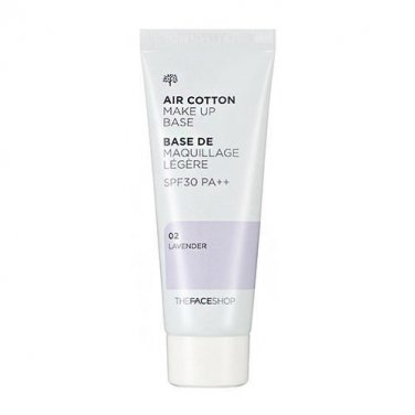 The FACE Shop Air Cotton Makeup Base SPF30 PA++ 02 Lavender Upgrade Lovely MEE