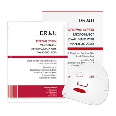 Dr. Wu Microinject Renewal Mask With Mandelic Acid 3pcs