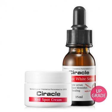 Ciracle Red Spot Cream 30ml + Red Spot White Serum 15ml Pimple Trouble skin Acne